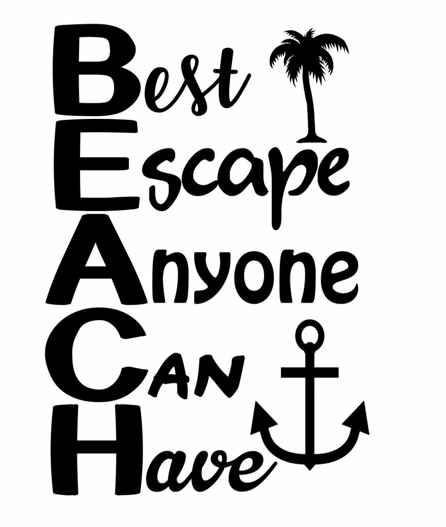 free beach quote svg