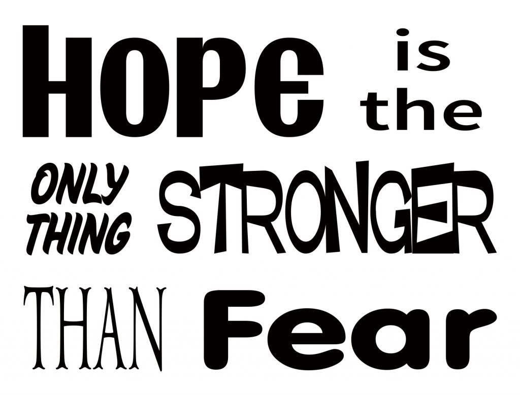 Free Hope is the only thing SVG File
