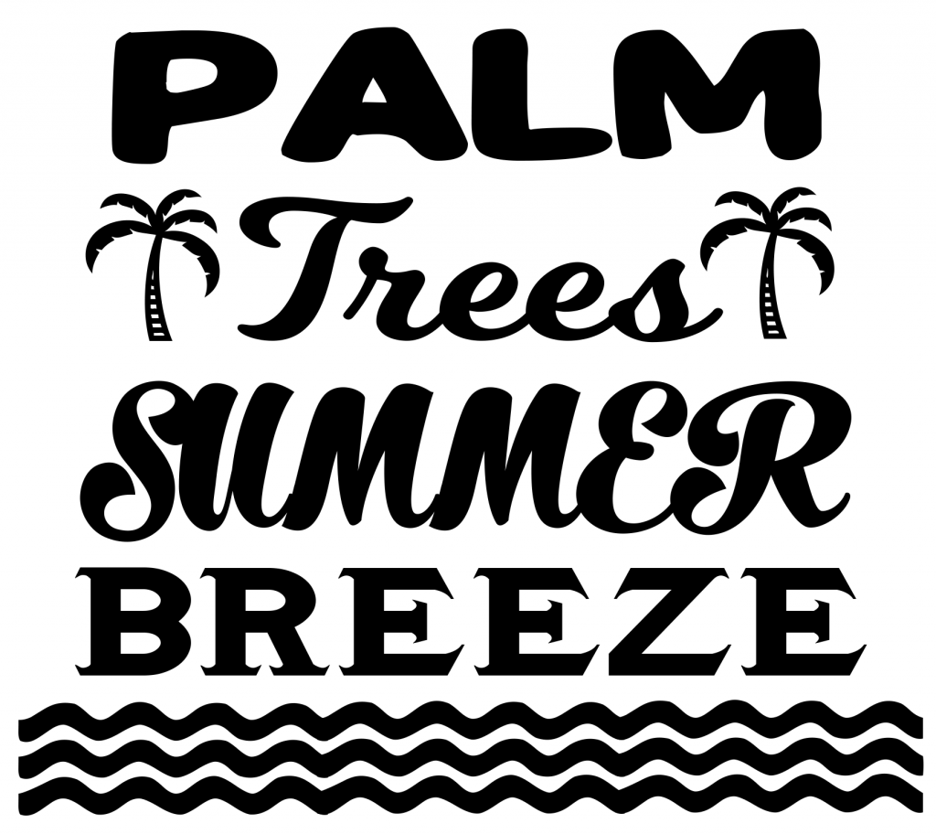 Free Palm Trees Summer Breeze SVG File