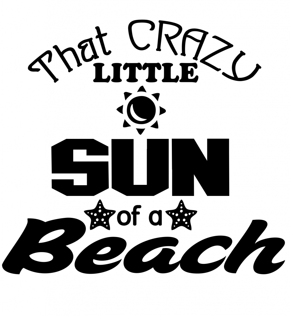 Free Sun of a Beach SVG File