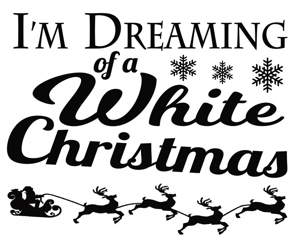 Free White Christmas SVG File