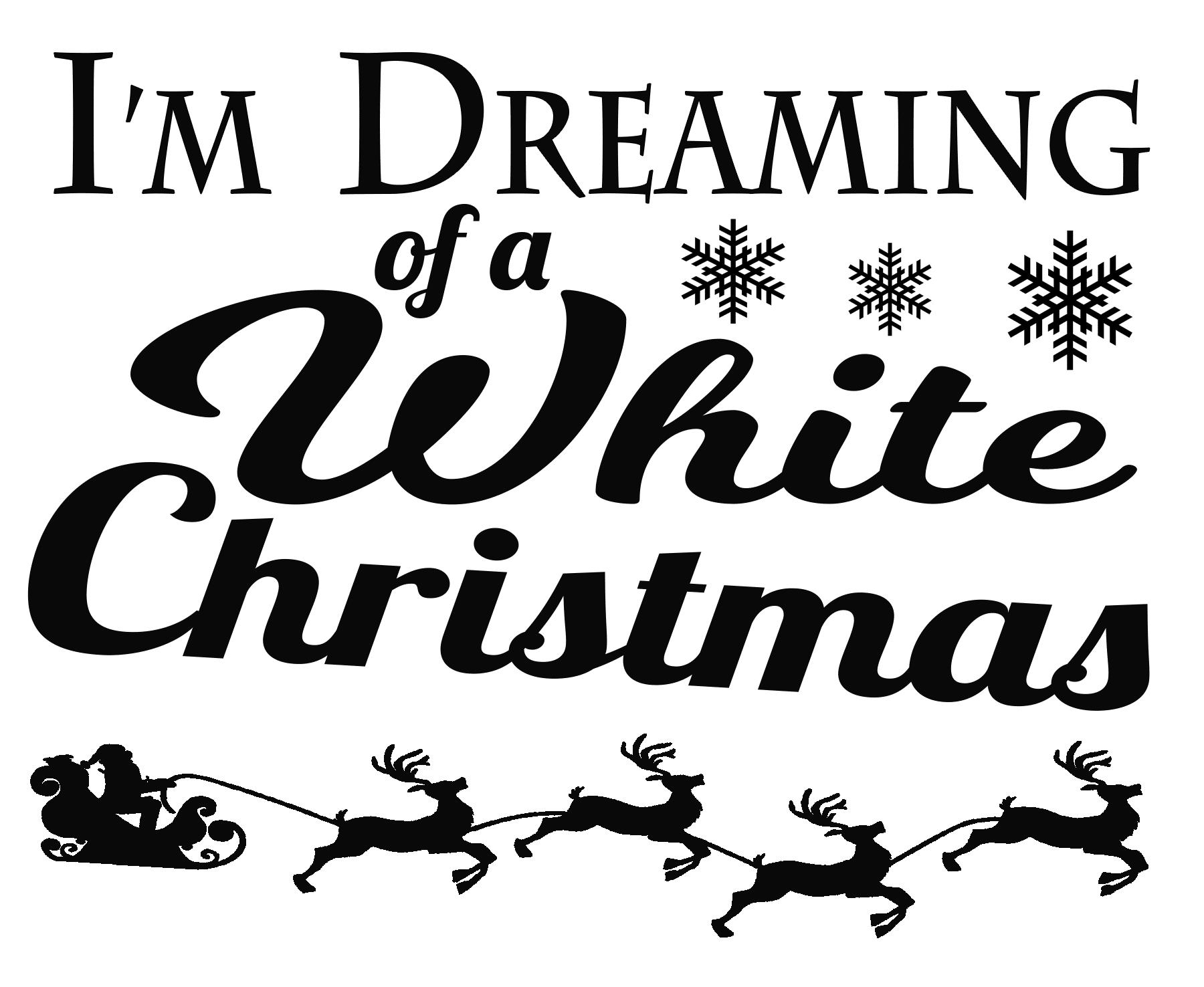FREE White Christmas SVG File – Free SVG Files