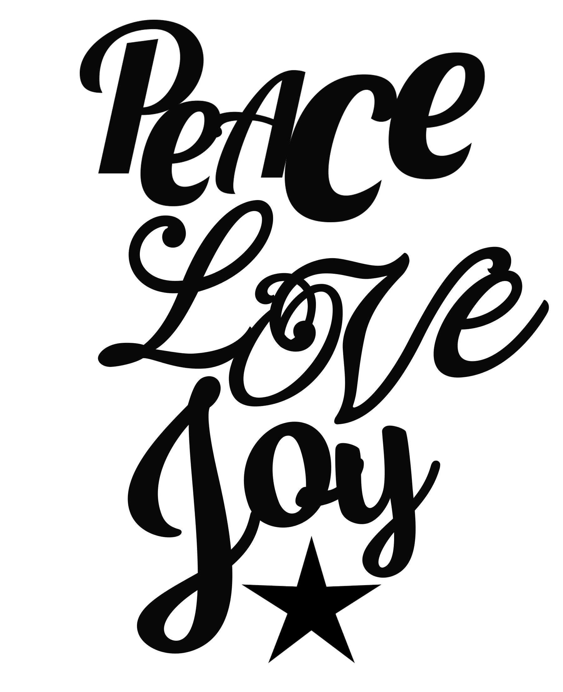 Free Peace Love Joy SVG File