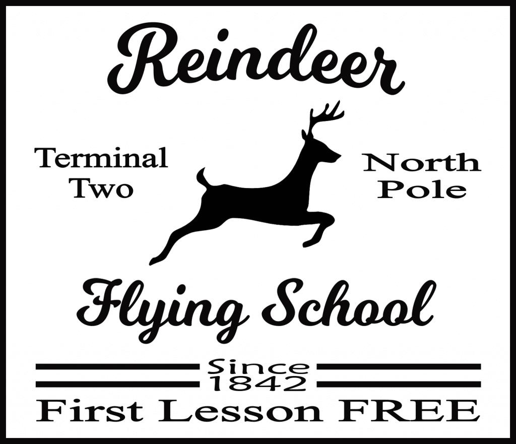 Free Reindeer Flying School SVG File