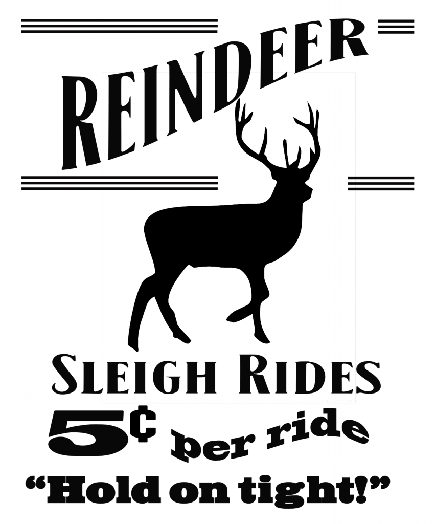Free Reindeer Sleigh Ride SVG File