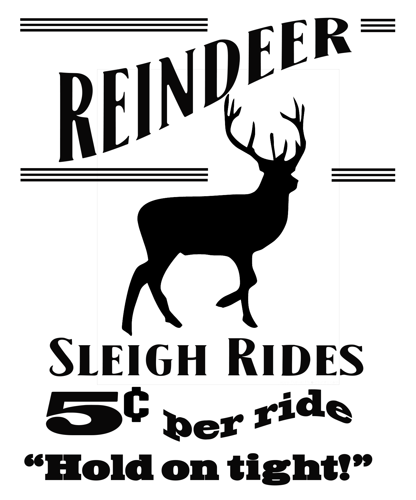 Free Reindeer Sleigh Ride SVG File