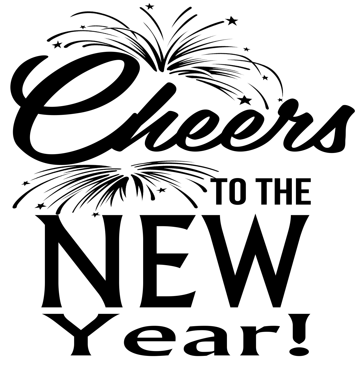 Free Cheers to the New Year SVG File