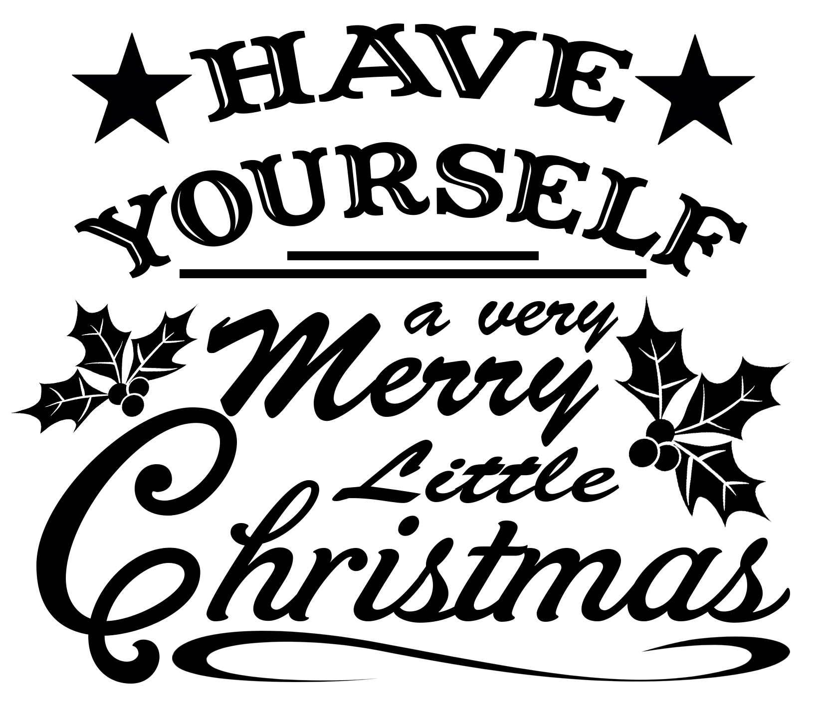 Free Merry Little Christmas SVG File