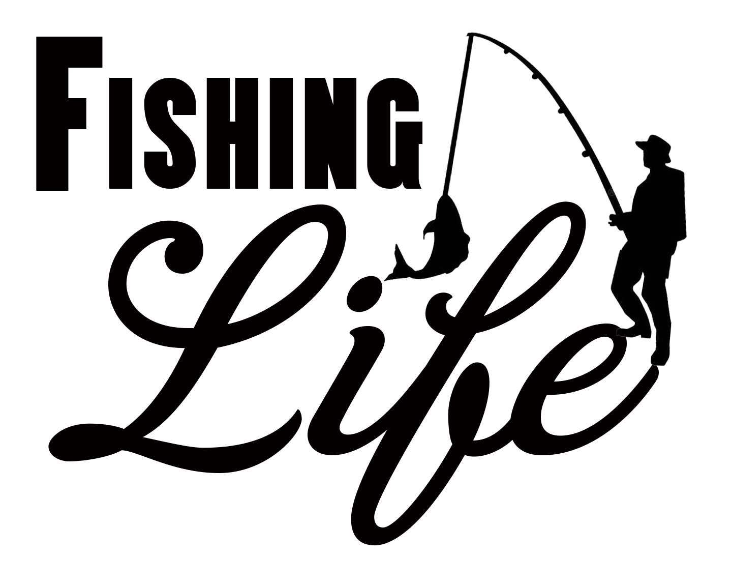 Free Fishing Life SVG File