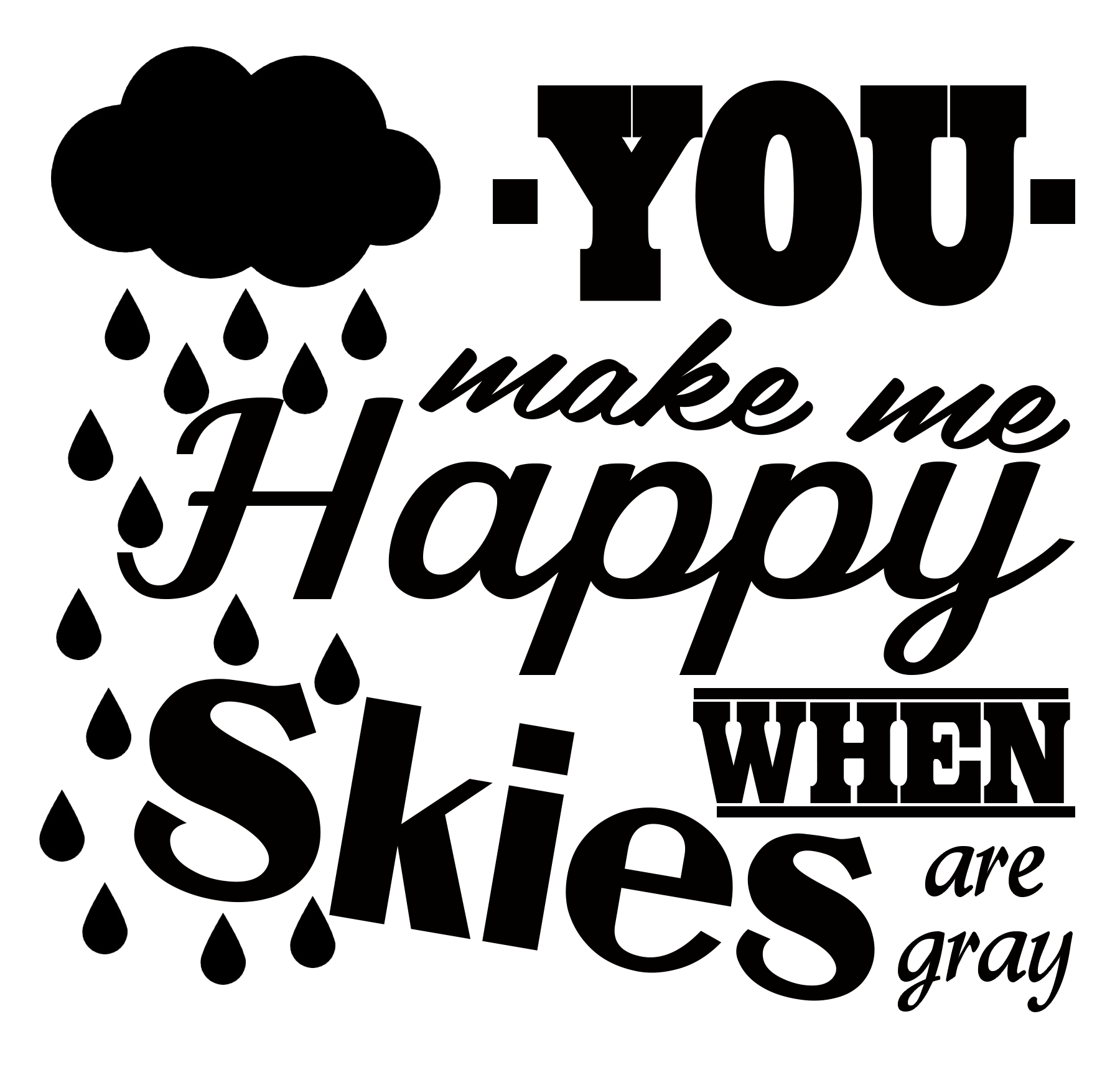 Free Happy Skies SVG File