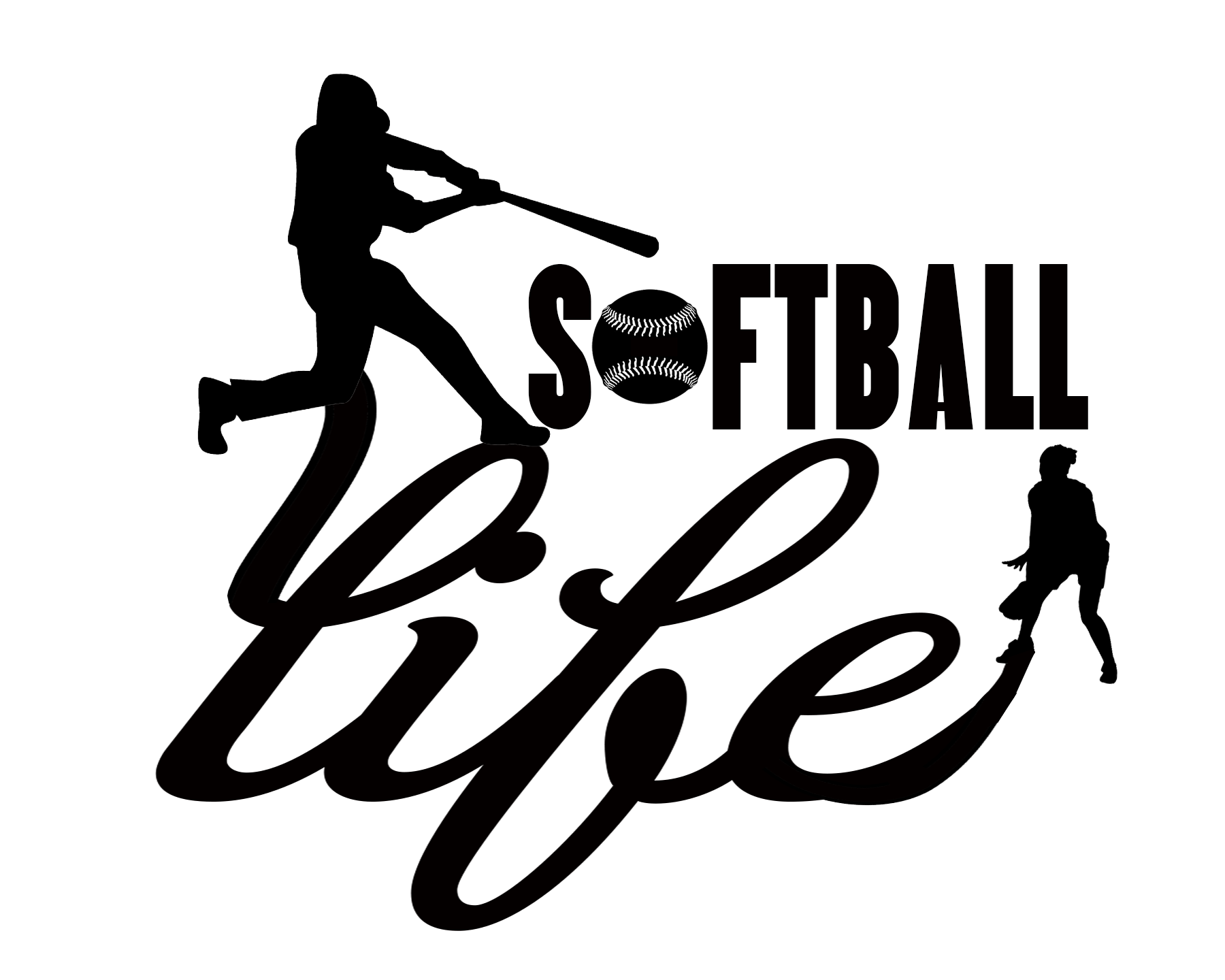 Free Softball Life SVG File