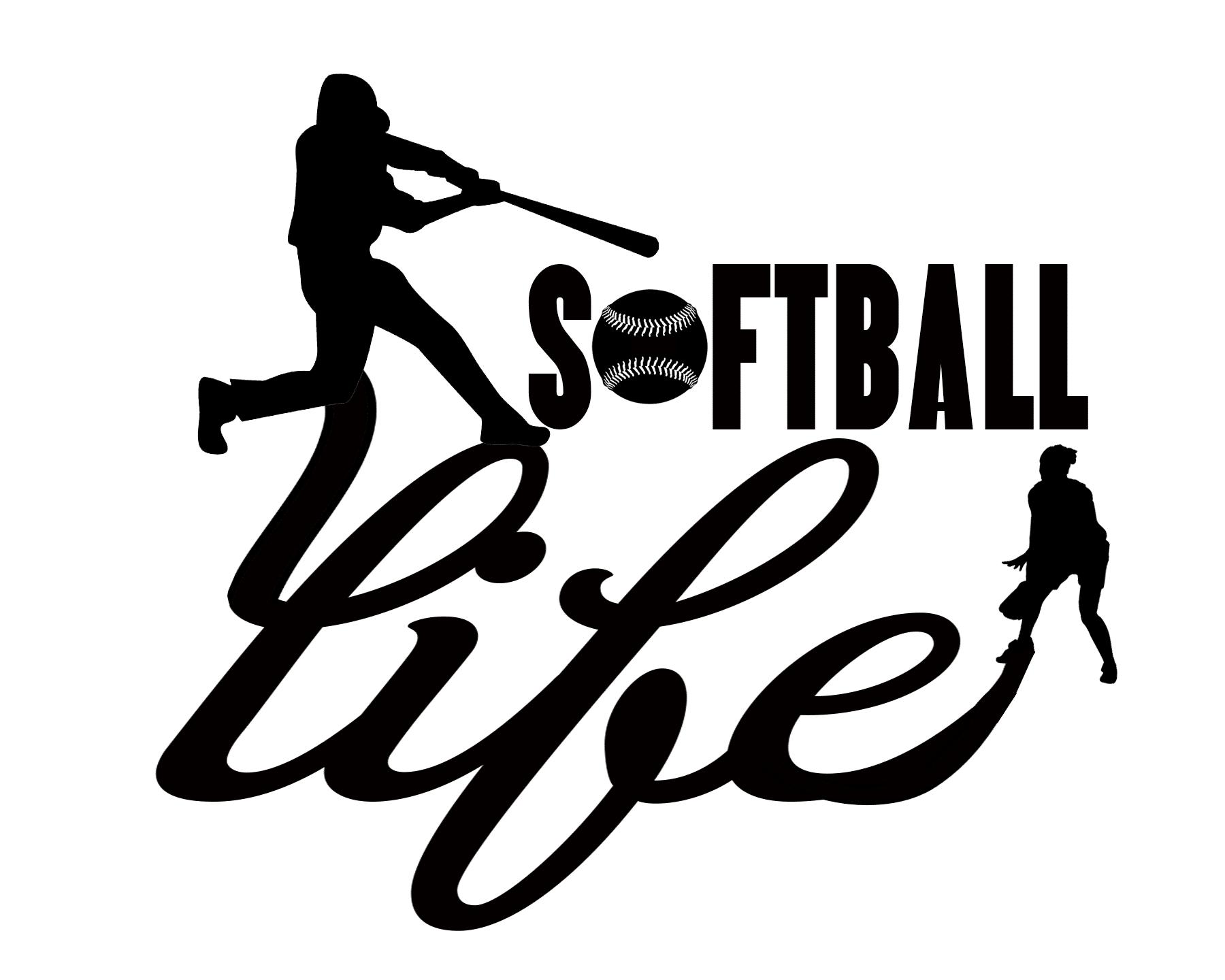 Free Softball Life SVG File