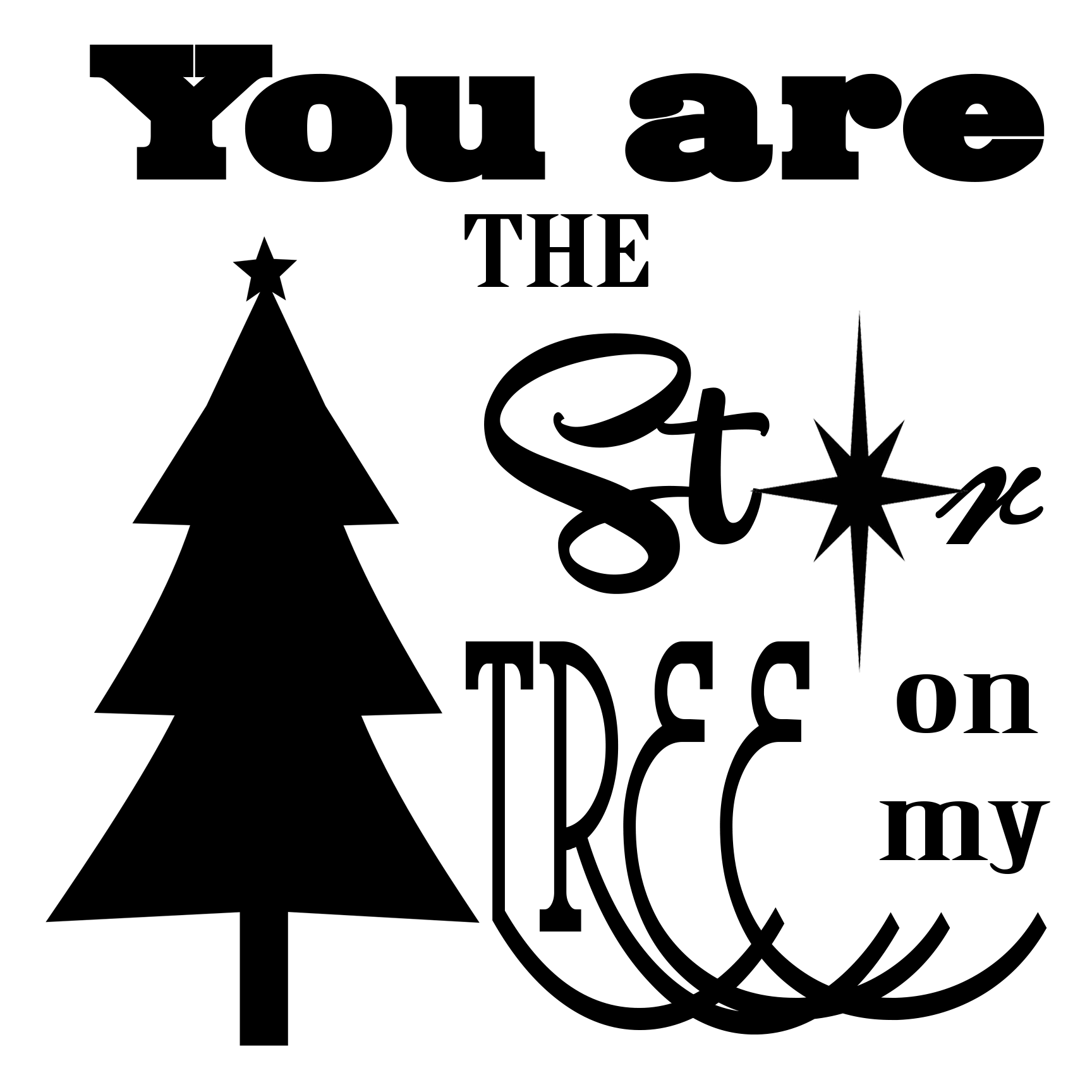 Free You are the Star SVG File