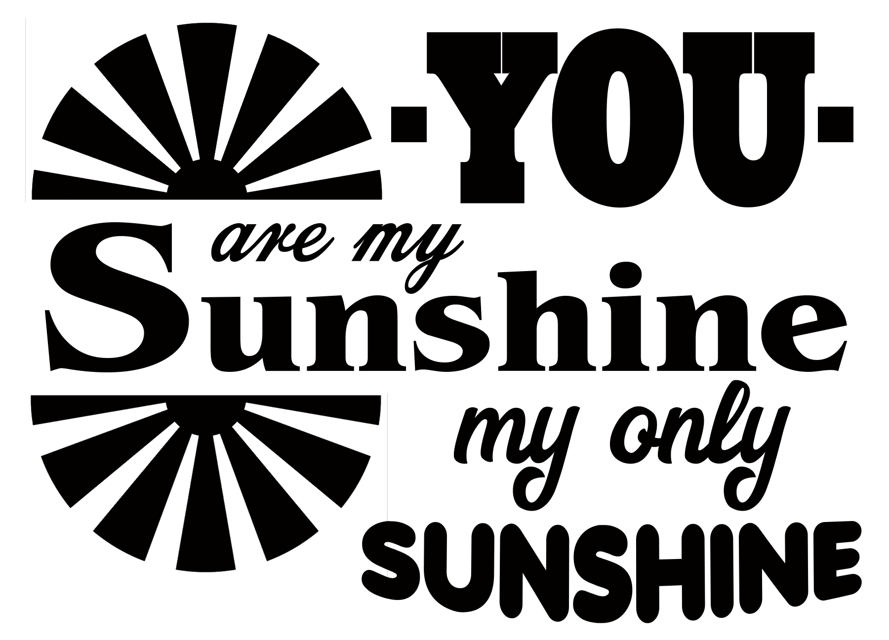 Free You are my Sunshine SVG File