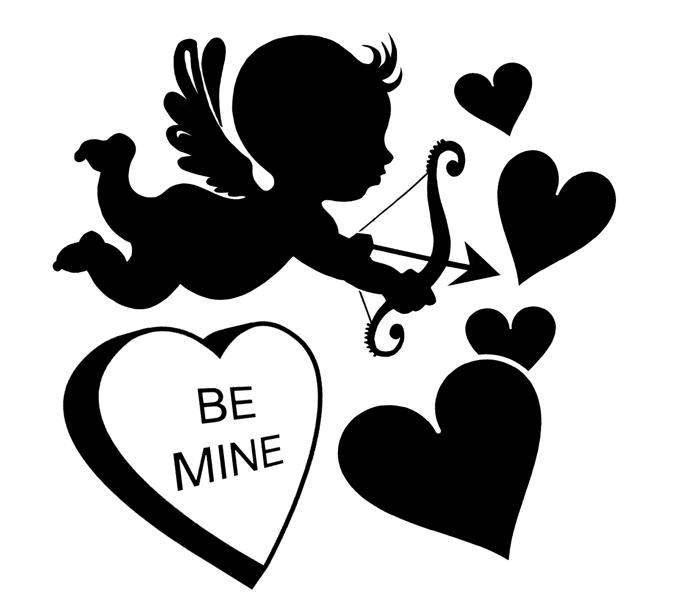 Free Be Mine Valentine SVG File