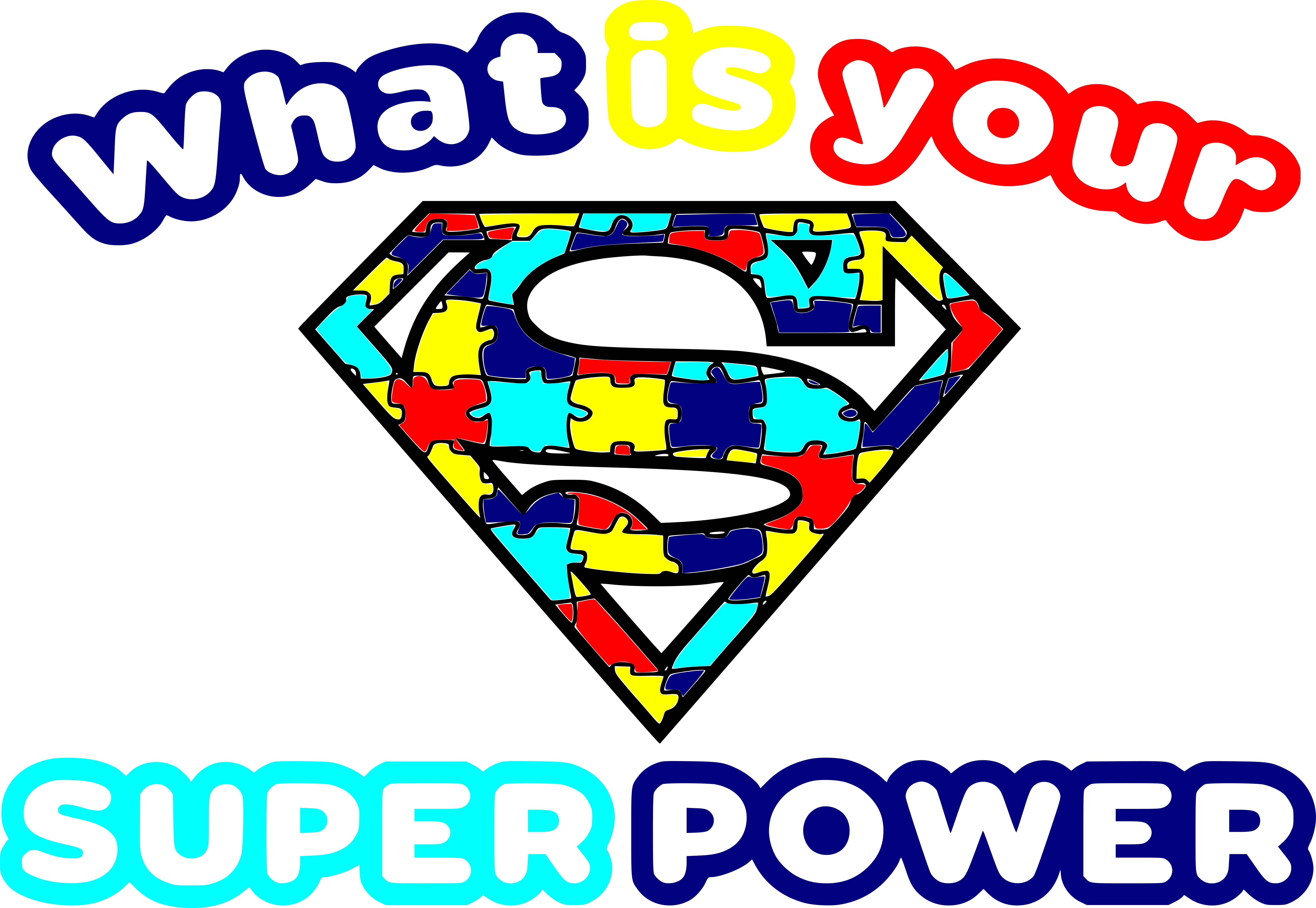 Free Autism Super Power SVG Cutting File