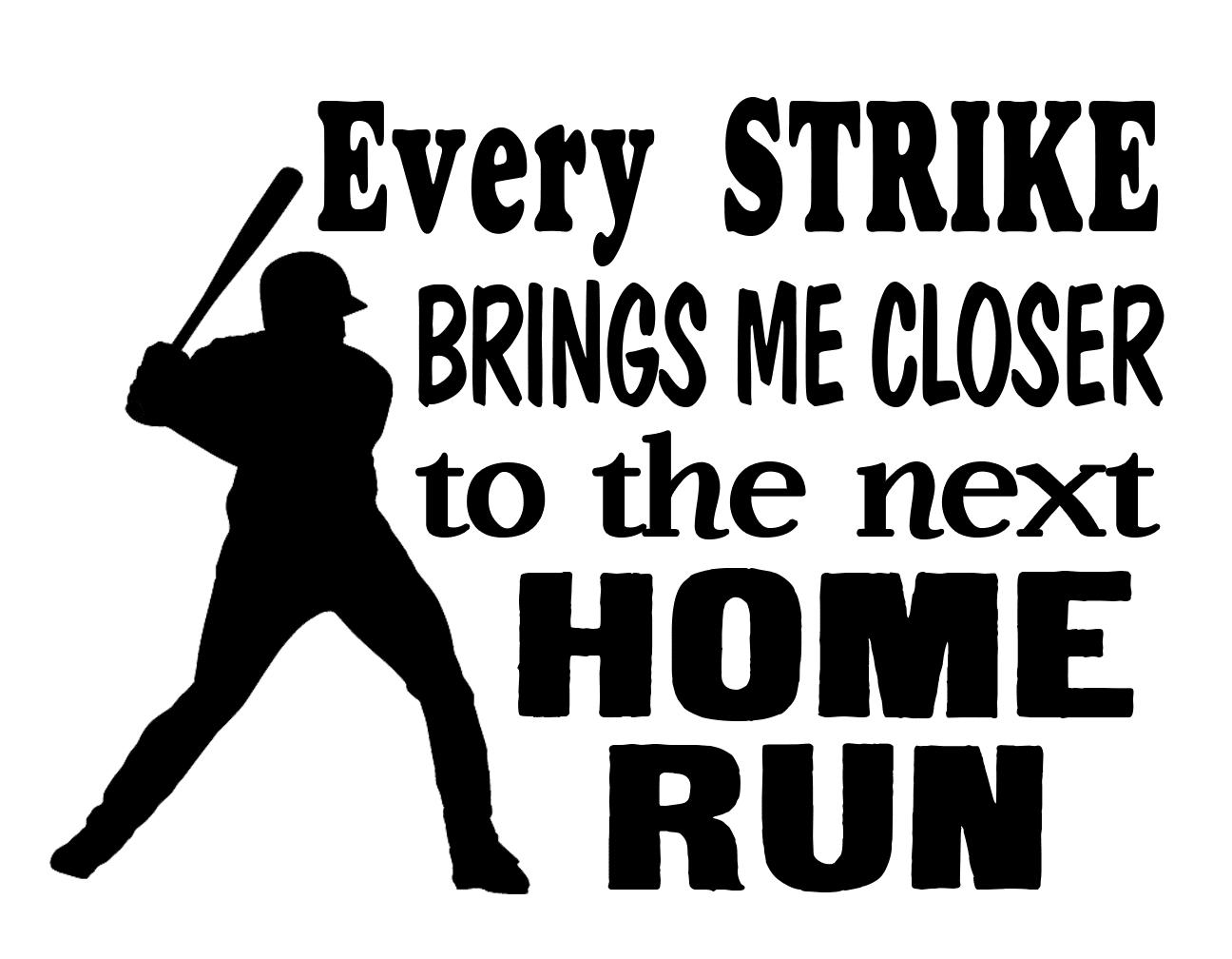 Free Baseball Home Run SVG Cutting File