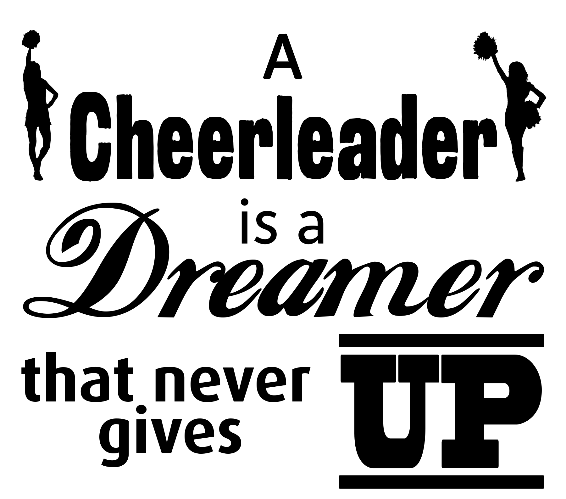 Free Cheerleader SVG Cutting File