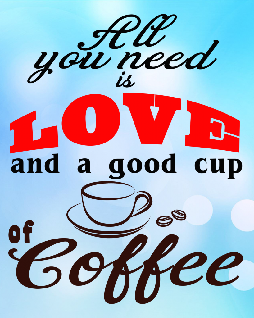 Free Love and Coffee SVG File