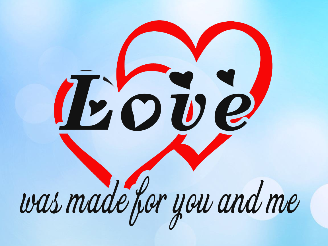 Free Love is made for you and me SVG File