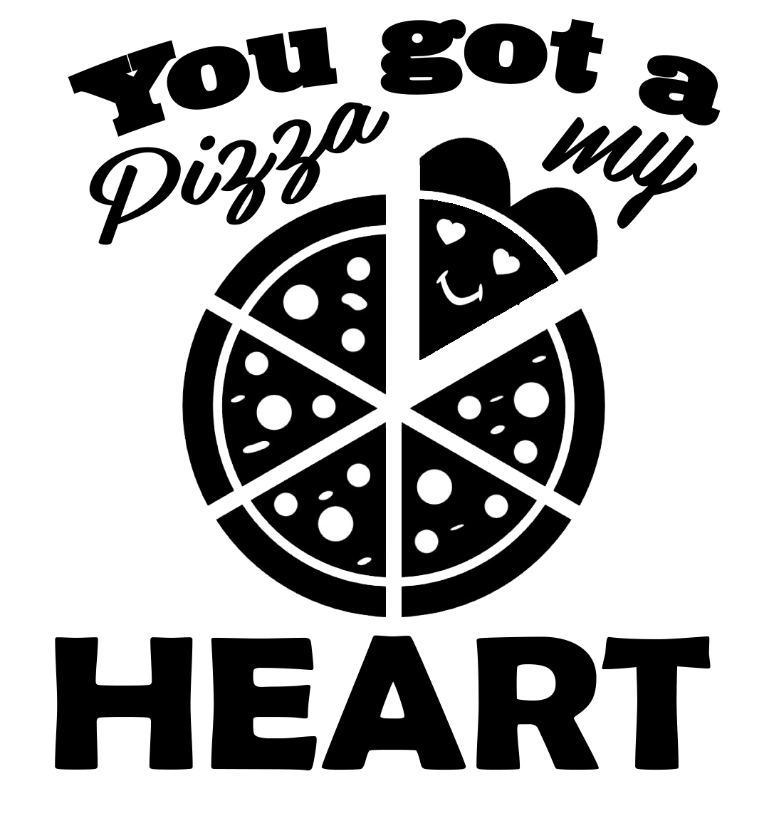 Free Heart Pizza SVG File