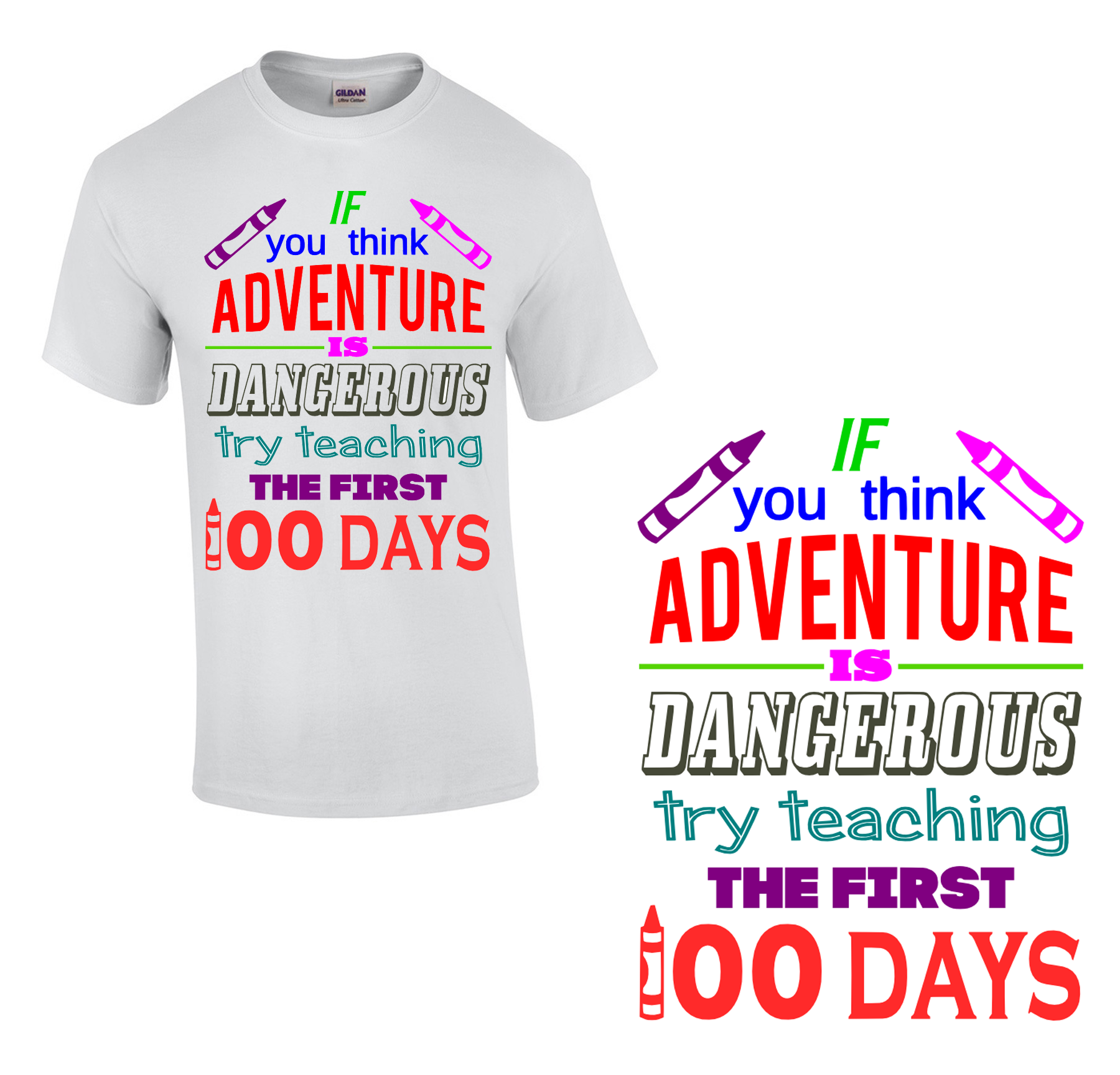 Free 100 Days Adventure SVG Cutting File