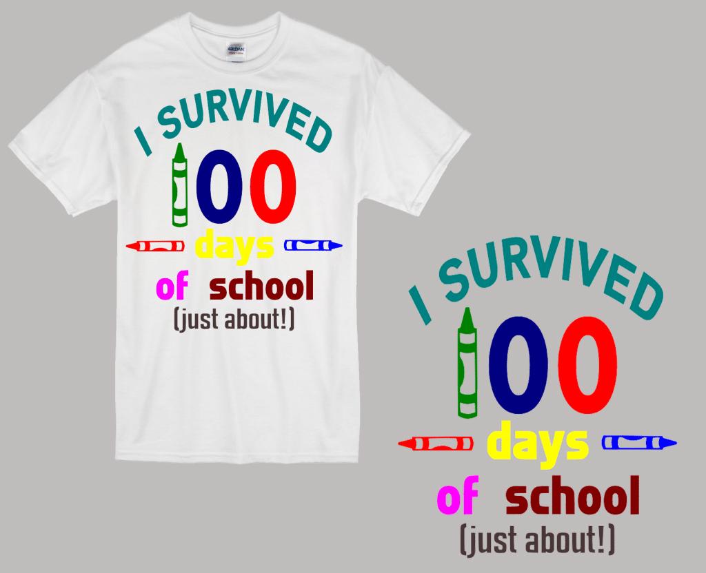 Free I Survived 100 Days SVG Cutting File