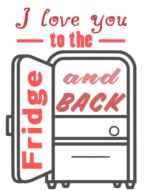 Free Fridge SVG Cutting File