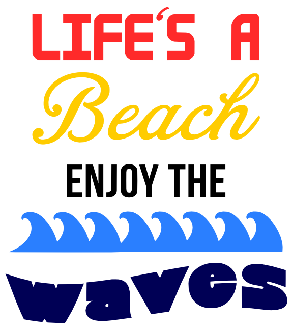 FREE Lifes a Beach SVG Cutting File