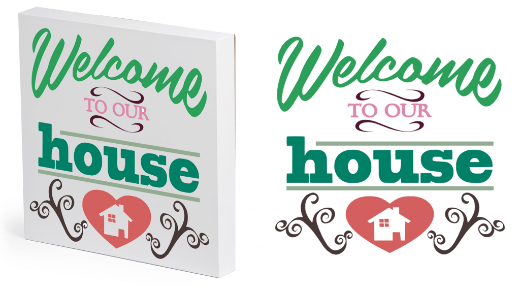 Free Welcome to our House SVG Cutting File