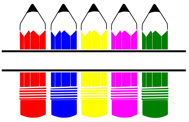 Free Pencils SVG Cutting File