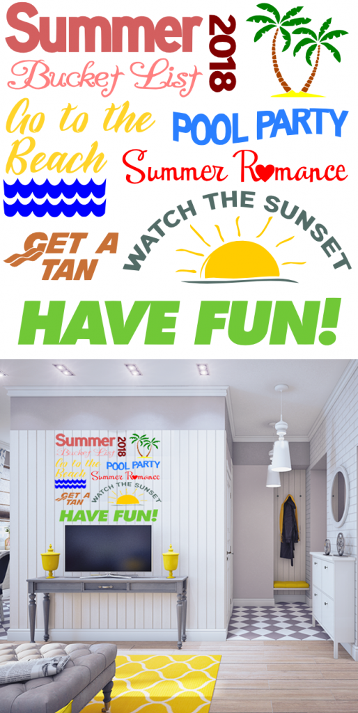 Free Summer Bucketlist SVG Cutting File