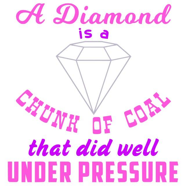 Free Diamond Under Pressure SVG Cutting File