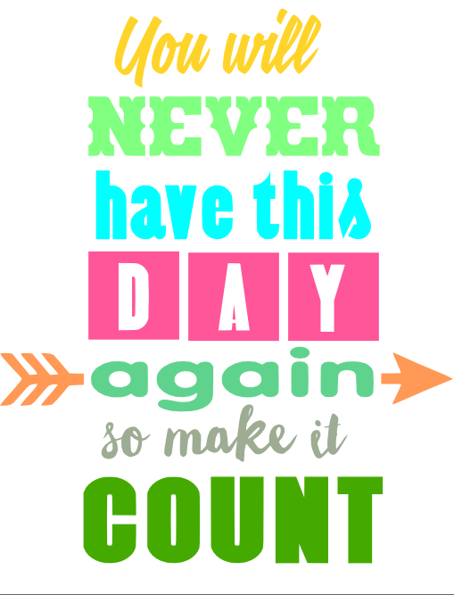 Free Make it Count SVG Cutting File