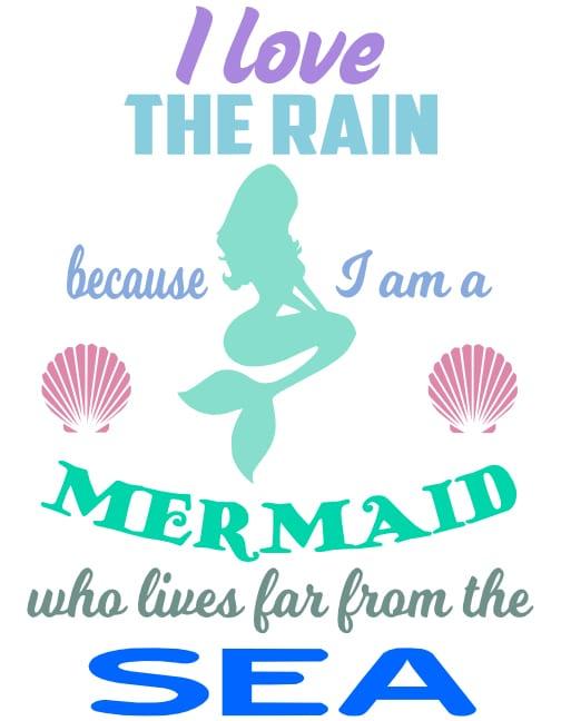 Free Mermaid SVG Cutting File