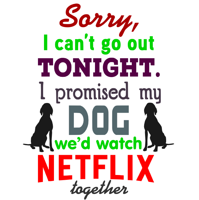 Free Netflix Dog SVG Cutting File