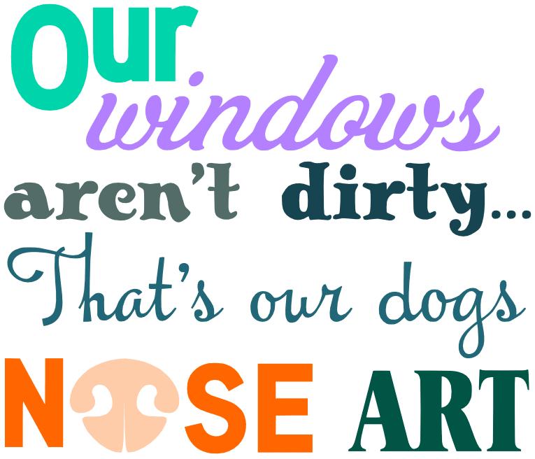 Free Dog Nose Art SVG Cutting File