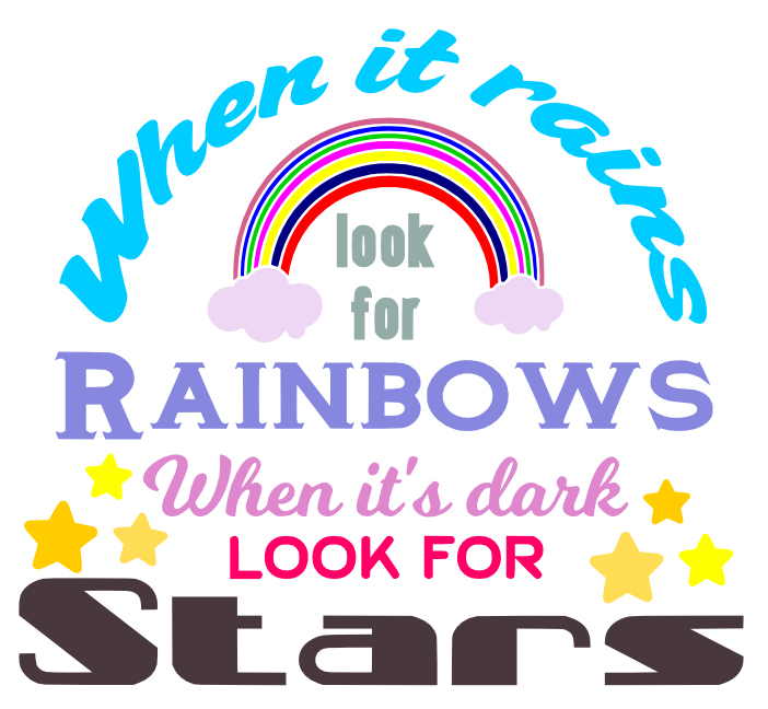 Free Rainbows and Stars SVG File