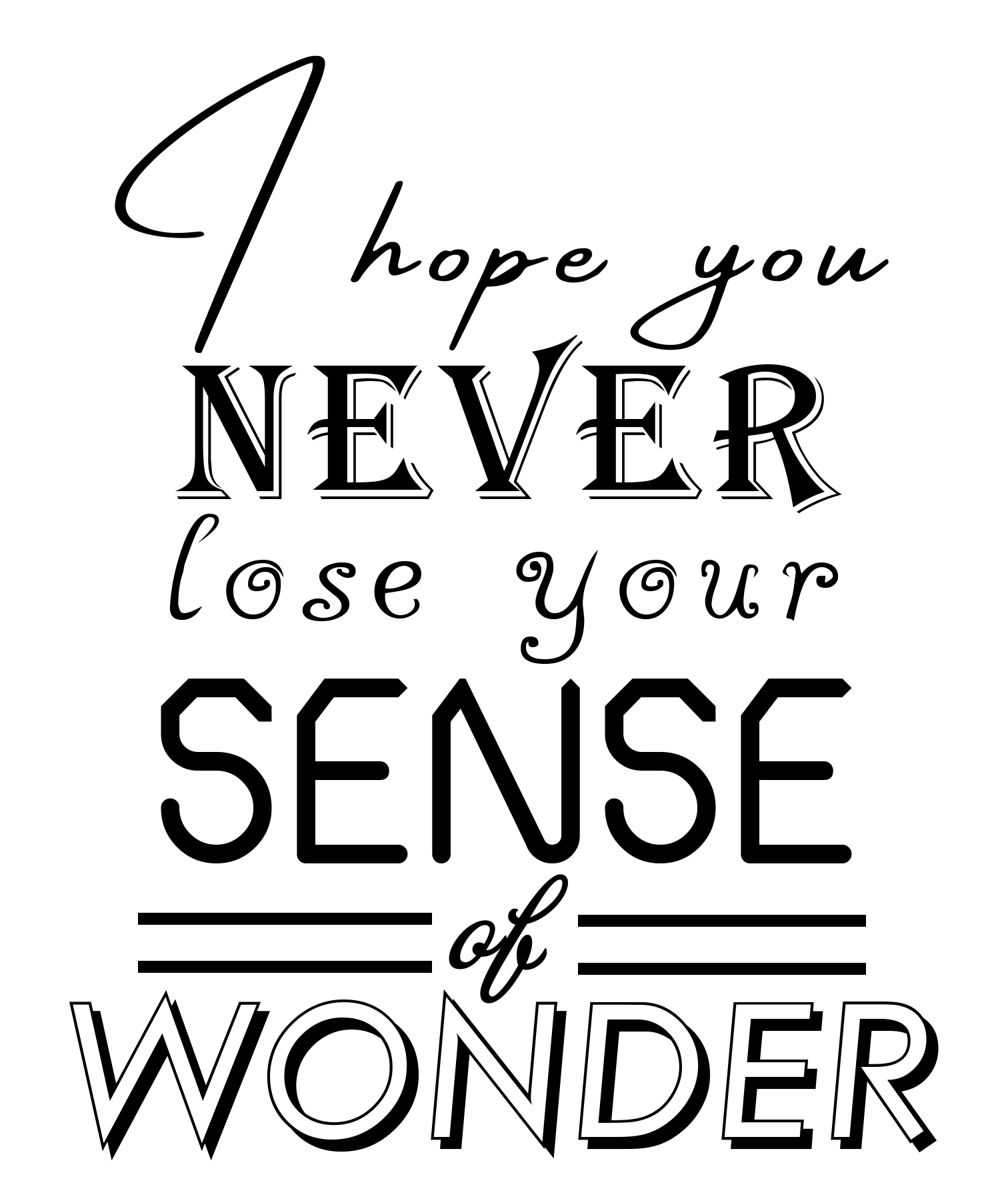 Free Sense of Wonder SVG File