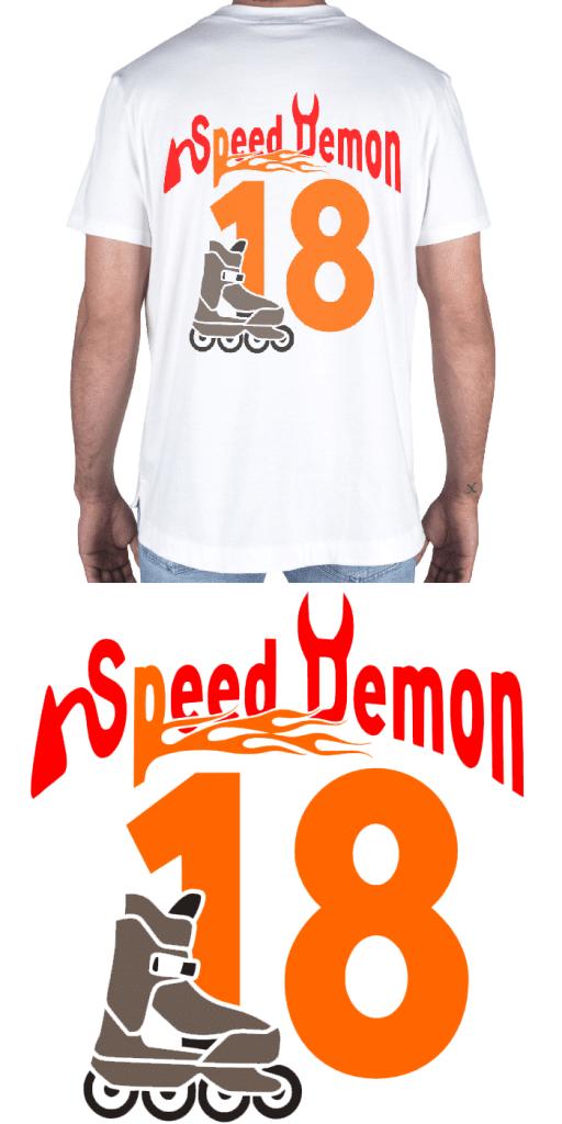 Free Speed Demon SVG Cutting File