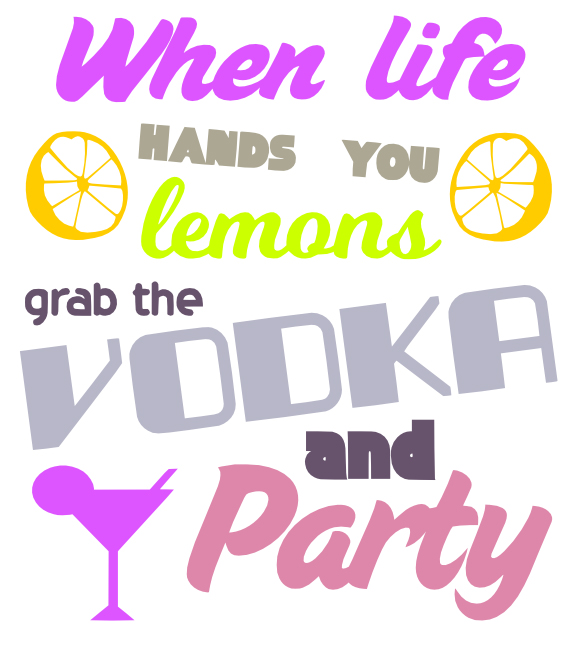 Free Vodka and Party SVG Cutting File