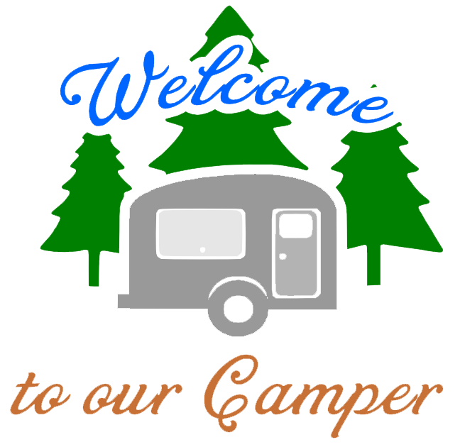 Free Welcome to our Camper SVG Cutting File