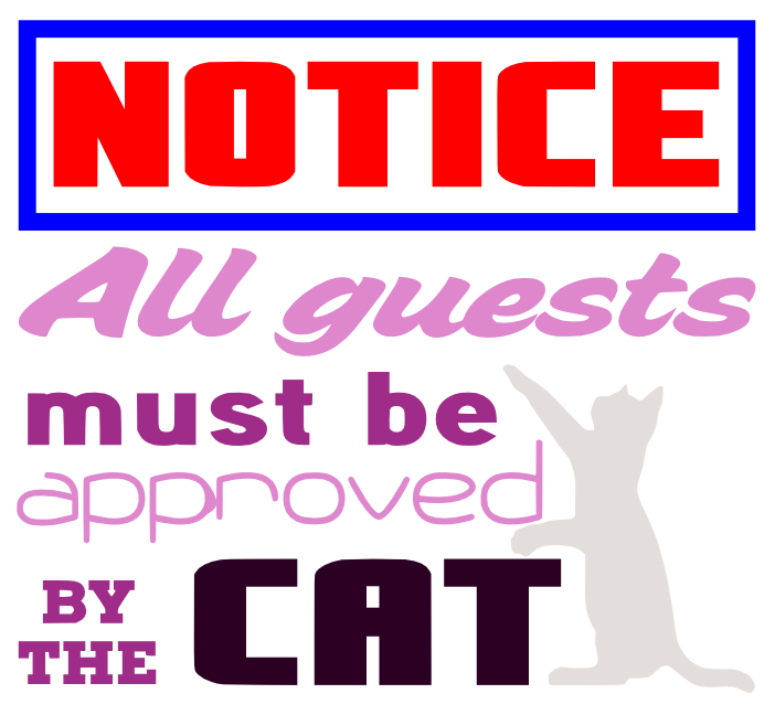Free Cat Notice SVG Cutting File