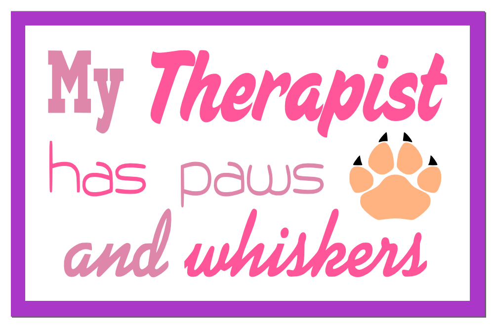 Free Cat Therapist SVG Cutting File