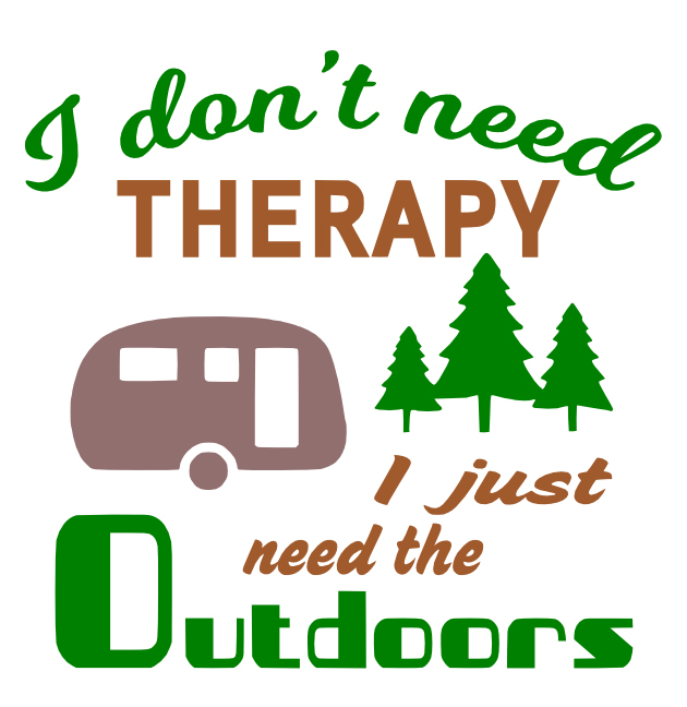 Free Outdoors Therapy SVG Cutting File