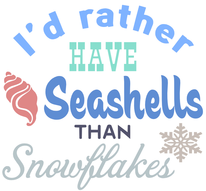 Free Seashells SVG Cutting File