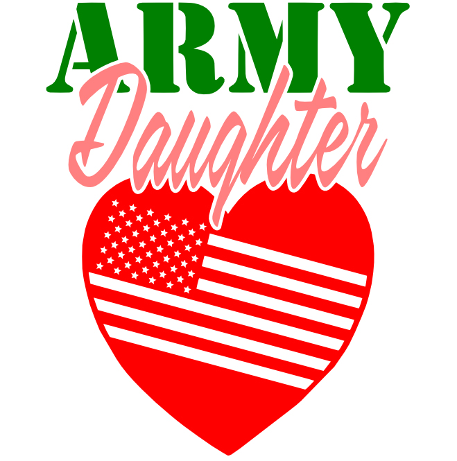 Free Army Daughter SVG Cutting File