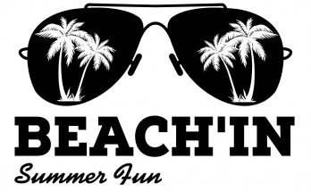 Free Beach'in SVG Cutting File
