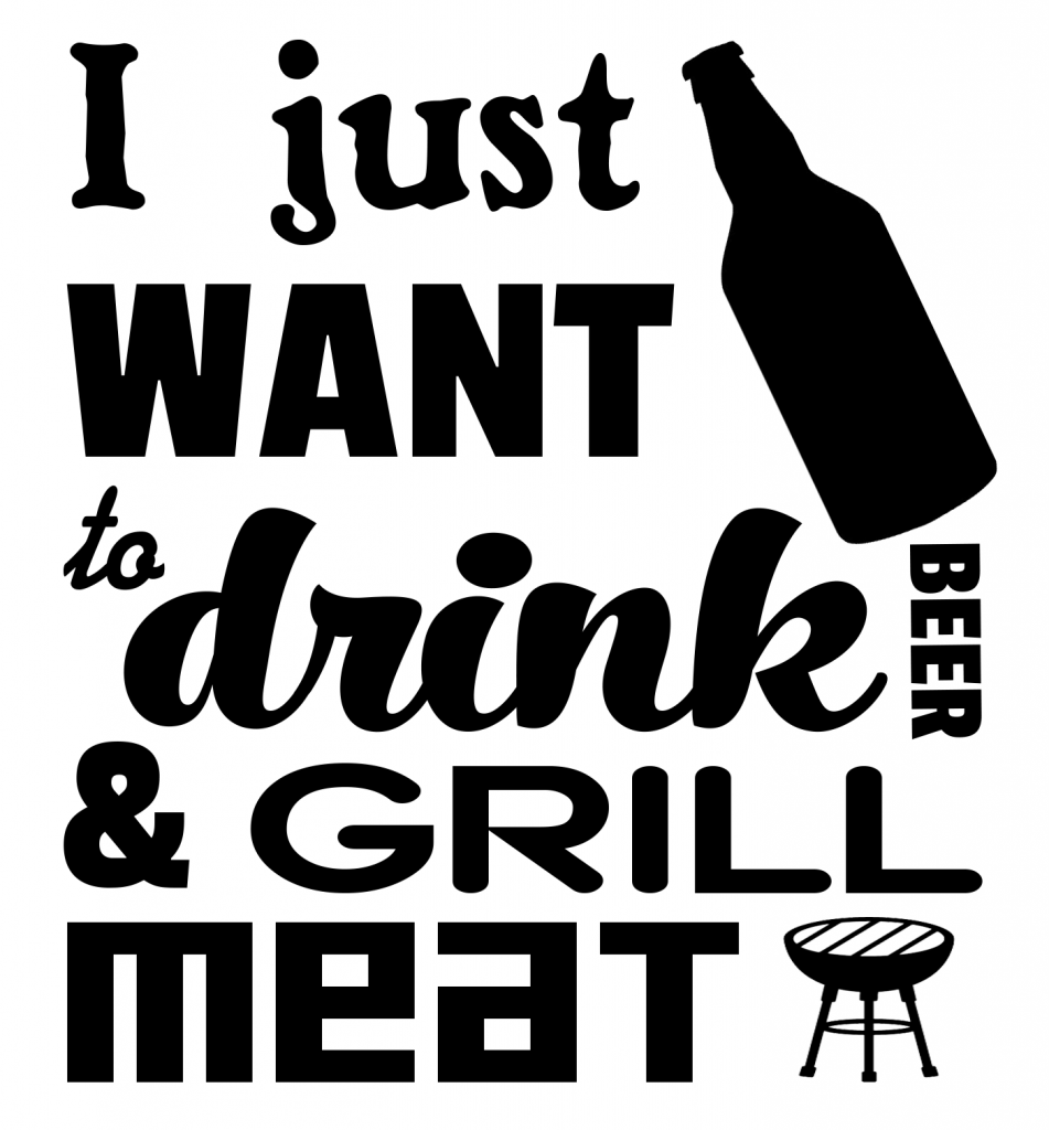 Free Drink and Grill SVG Cutting File