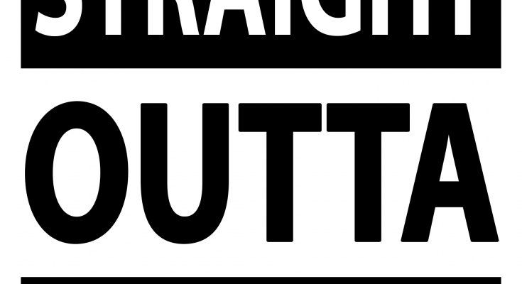 Free Straight Outta SVG Cutting File